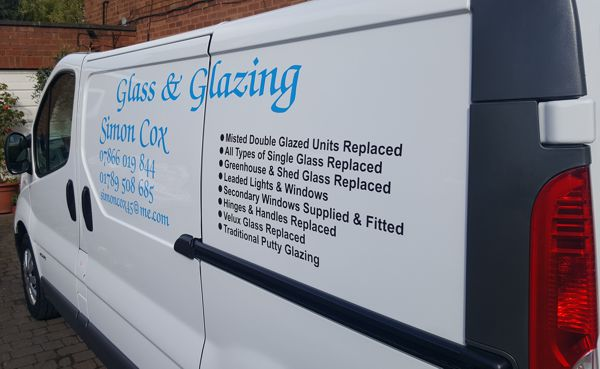 Simon Cox Glass and Glazing company van